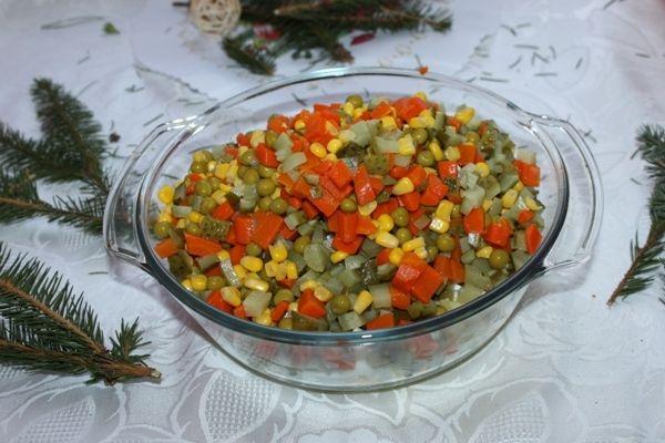 Warzywna sałatka Wigilijna