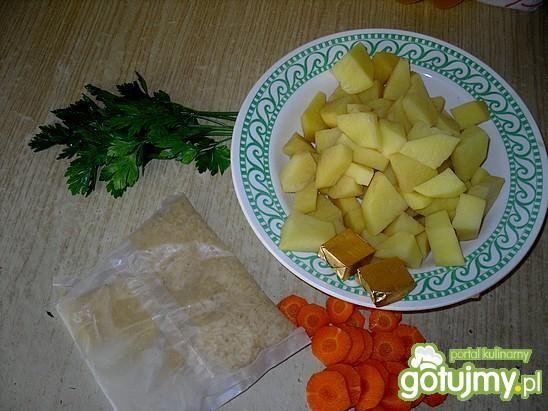 Warzywna zupa z ryżem