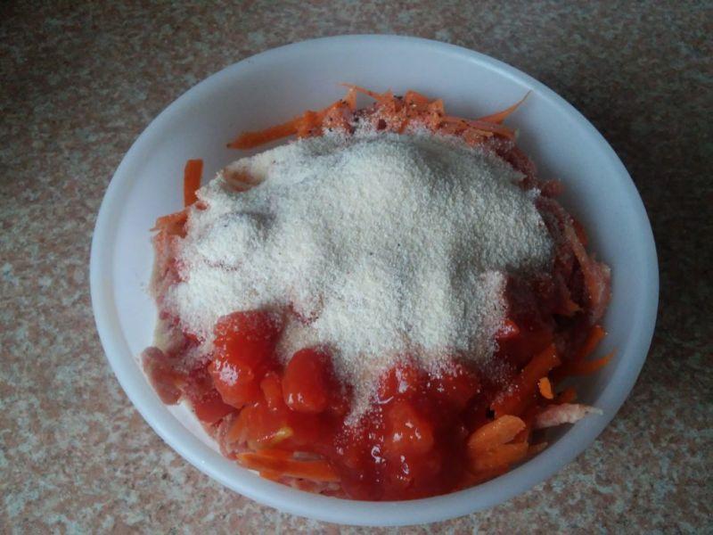 Wieprzowo wołowe kule z warzywami - danie na parze