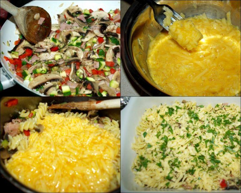 Zapiekanka makaronowa z boczkiem i warzywami