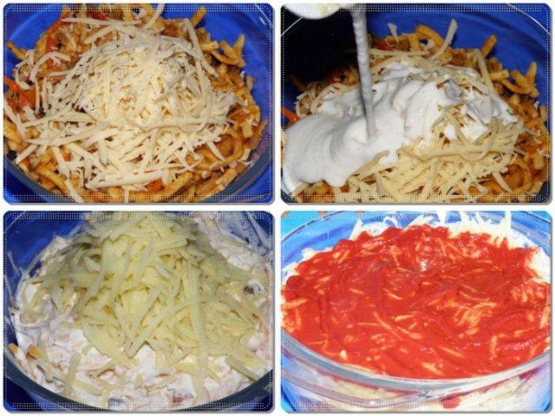 Zapiekanka makaronowa z sosem śmietanowym