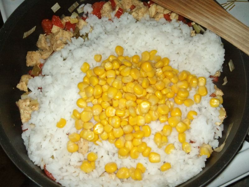 Zapiekanka ryżowa a'la gyros
