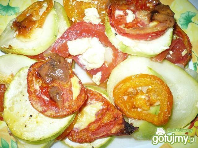 Zapiekanka z cukinii i pomidorów