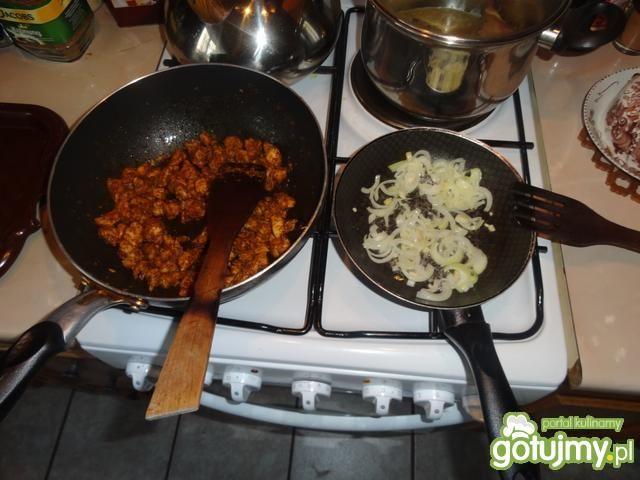 Zapiekanka z gyrosem i ryżem