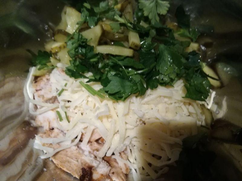 Zapiekanka z kurczakiem,papryką i kaszą pęczak