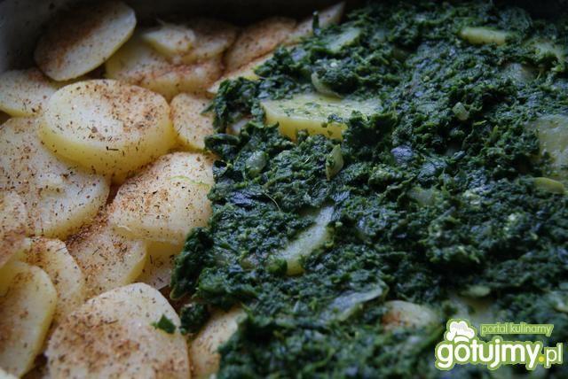 Zapiekanka z żółtym serem i szpinakiem