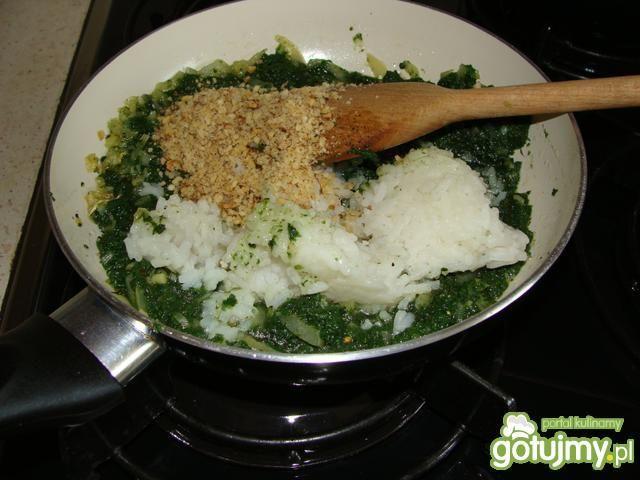 Zawijasy z ryżem i szpinakiem