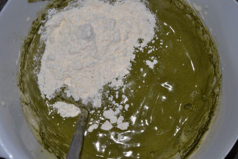 Zielone, wytrawne  gofry bezglutenowe