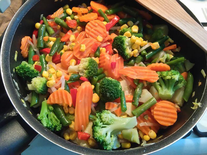 Ziemniaczana patelnia z warzywami