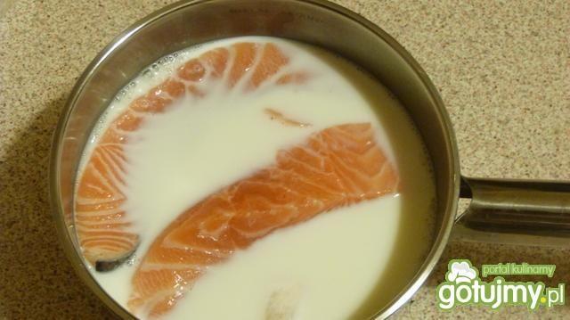 Ziemniaczana zapiekanka z łososiem