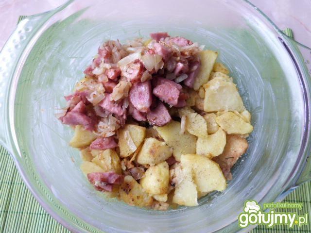 Ziemniaki z pieczarkami i kalafiorem