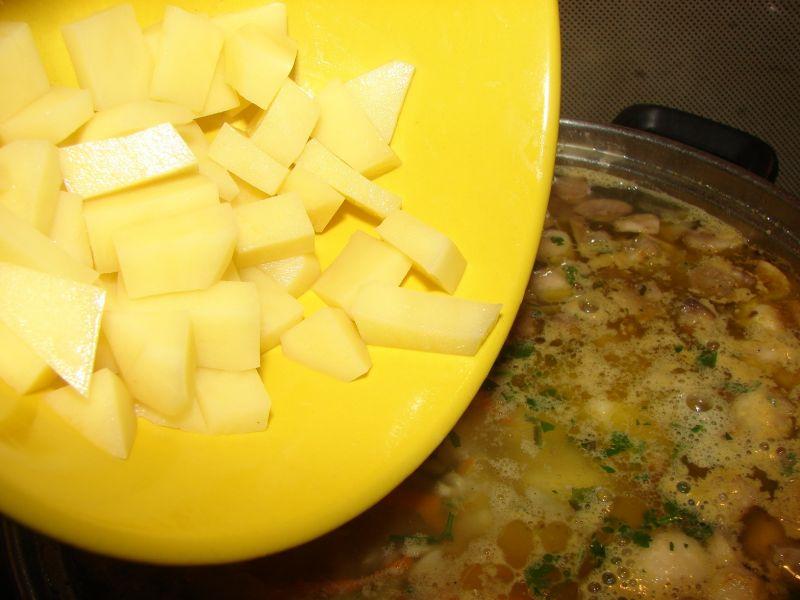 Zupa cukiniowo - pieczarkowa