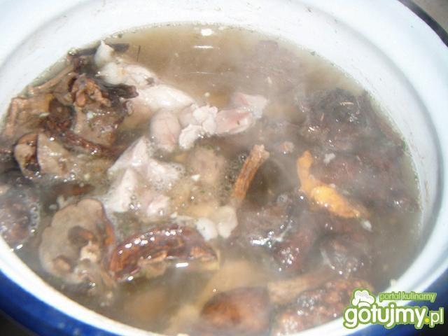 Zupa grzybowa z podrobami