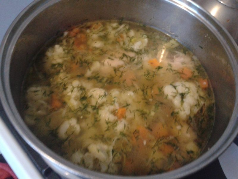 Zupa kalafiorowa z porem