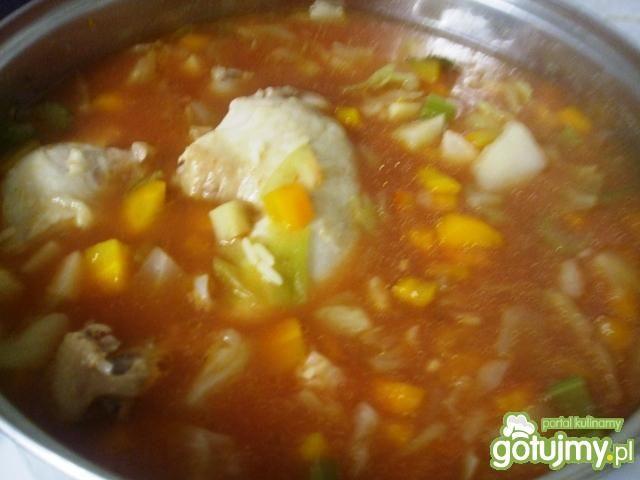Zupa kapuściana z ryżem na pomidorowo