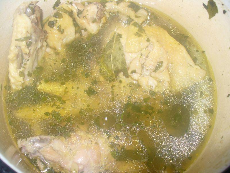 Zupa koperkowa  z ryżem na rosole