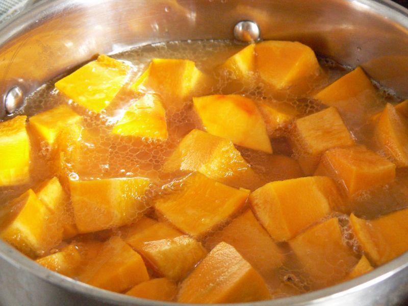 Zupa krem z dyni i puree ziemniaczanego