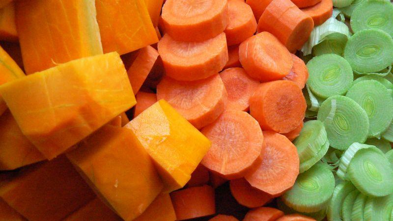 Zupa krem z dyni marchewki i pory