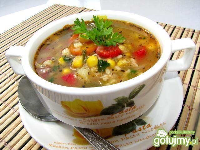 Zupa meksykańska z kurczakiem