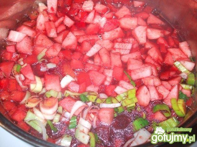 Zupa - mus buraczkowy z jabłkiem