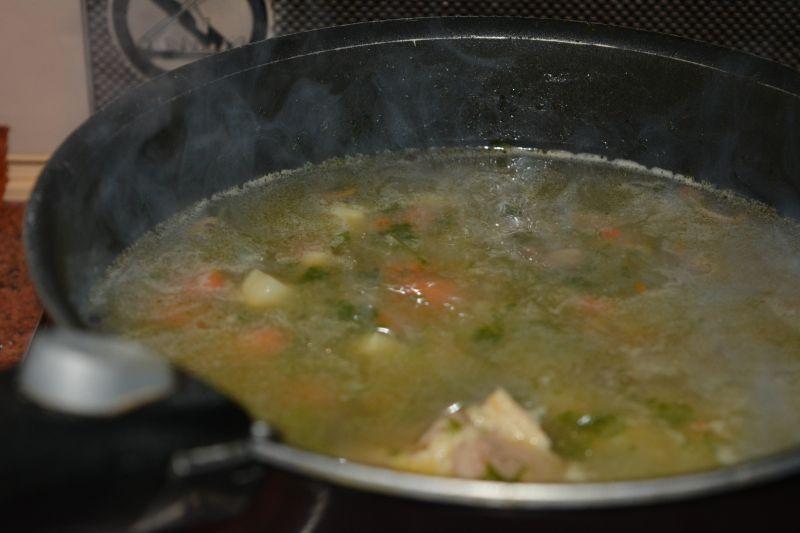 Zupa pieczarkowa z kaszą manną