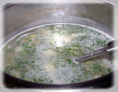 Zupa szparagowa z  jaglanką.
