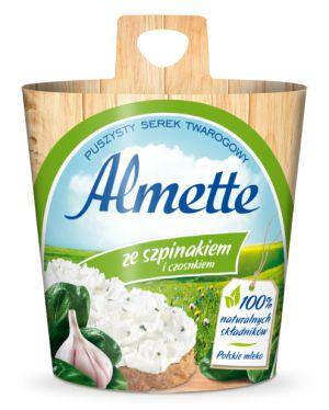 Almette szpinak z czosnkiem