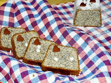 Ciasto białkowe z makiem i gruszką - Proste ciasto z makiem i gruszką.  Delikatne i wilgotne.