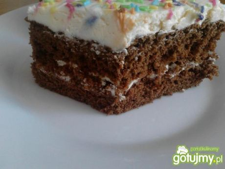 Ciasto kakaowe z kremem budyniowym