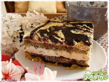 Ciasto makowo-kokosowe z kremem