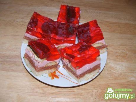 Ciasto z delicjami i galaretką