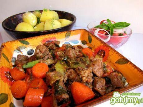 Gulasz cygański z ziemniakami