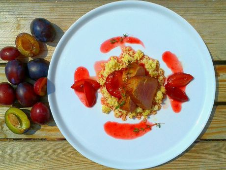 Polędwiczki wieprzowe  w sosie śliwkowym - Aromatyczne Polędwiczki wieprzowe  w sosie śliwkowym