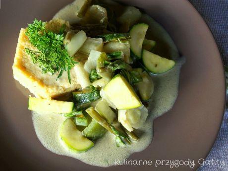 Zielone warzywne curry -
