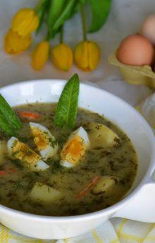 Zupa szczawiowa z jajkiem i ziemniakami