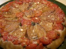 Odwracana tarta z pomidorami