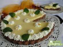 Tarta kakaowa z lemon curd