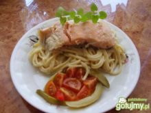 Ala' spaghetti z łososiem