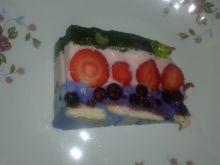 Almettowy sernik na zimno z owocami