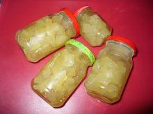 Ananasy z cukinii w słoikach