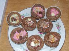Babeczki czekoladowo orzechowe
