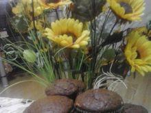Babeczki czekoladowo-orzechowe z kokosem