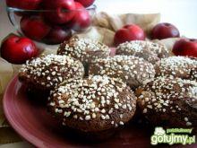 Babeczki kakaowe z jabłkami