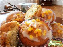 Babeczki pomarańczowo-makowe
