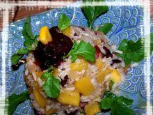 Babeczki ryżowe dyniowo żurawinowe