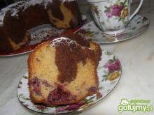 Babka czekoladowo- wiśniowo- rumowa