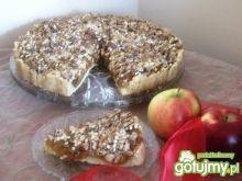 Babka krucha z prażonymi jabłkami