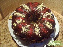Babka przekładana oblana czekoladą