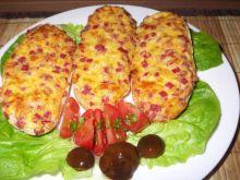 Bagietki zapiekane z salami