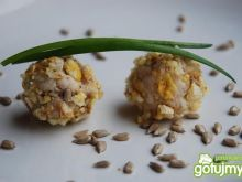 Bajaderki z kukurydzianym kąskiem i rybą